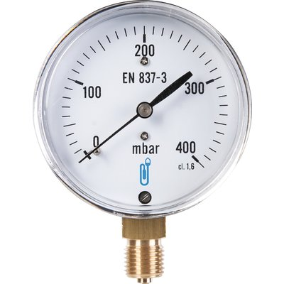 Manomètre gaz radial - 0 à 400 mbar