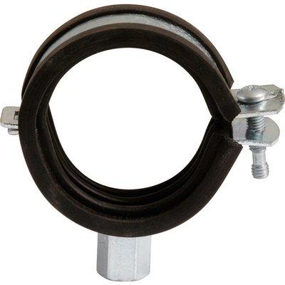 Collier isophonique à charnière zingué blanc simple - Tube Ø 25 à 27 mm - S