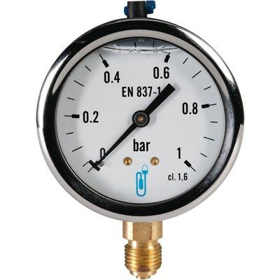 Manomètre à bain de glycerine 10 bar - Distrilabo