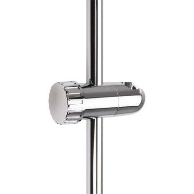 Curseur de barre de douche à molette - Diamètre barre 19 mm