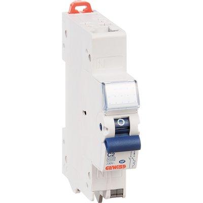 Disjoncteur 1 P+N C2 - 4,5 KA courbe C - 16 A - 1 module - Connexion auto /