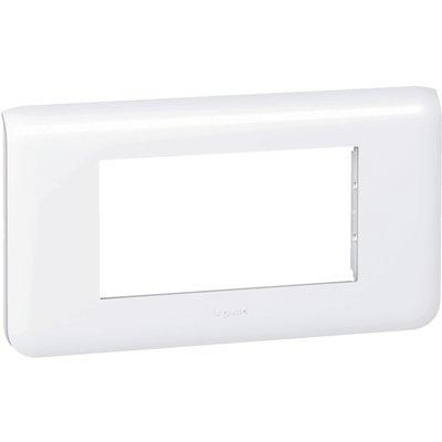Plaque Mosaic Legrand - 4 modules - Blanc - Horizontale