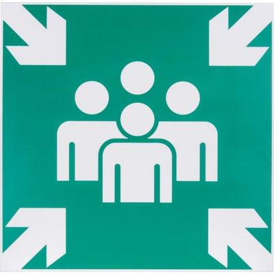 Panneau de signalisation d'évacuation et de secours