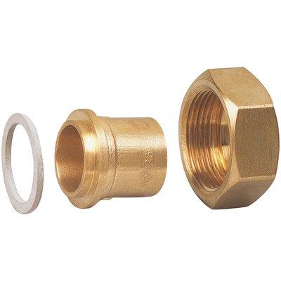 Raccord droit - 2 pièces - Spécial gaz naturel - À souder sur cuivre