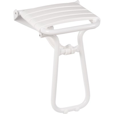 Siège de douche escamotable - Époxy blanc