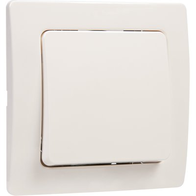 Bouton poussoir blanc complet - Liberty - Dhome