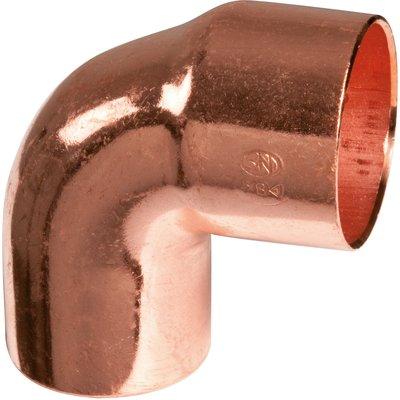 Raccord cuivre coudé 90° à souder - Mâle / femelle petit rayon - Ø 52 mm -
