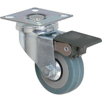 Roulette à frein à platine pivotante - Ø 50 mm - Série S14 AF - Caujolle