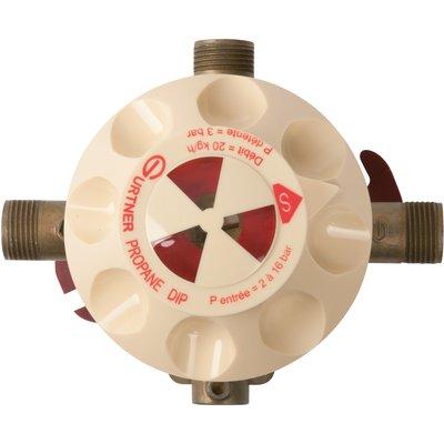 Détendeur gaz butane - Inverseur automatique