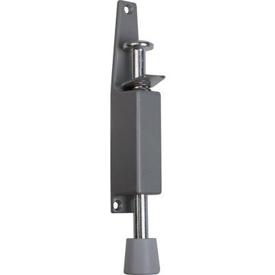 Arrêt de porte à pédale - Fonte / Aluminium - Argent