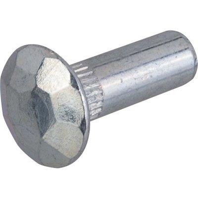Douille martelée acier zingué blanc