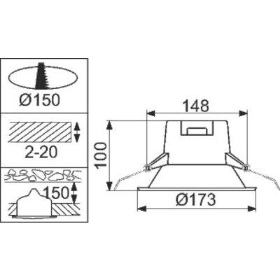 Downlight Ledinaire LED DN060B 8S