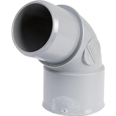Raccord coudé d'évacuation à 67°30 - PVC - Simple emboîtage - Mâle / Femell