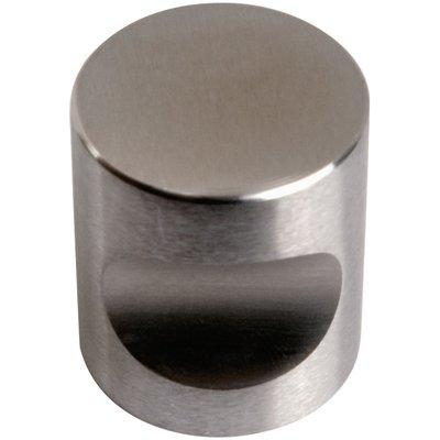 Bouton encoche inox - 20 mm