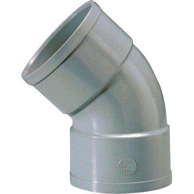 Raccord PVC gris coudé 45° - Ø 32 mm - Double emboîture - Girpi
