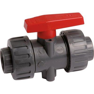Vanne PVC pression noire - Ø 40 mm - Haute performance - Girpi