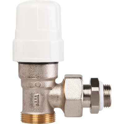 """Robinet de radiateur équerre thermostatique - M 3/8"""" - RBM"""