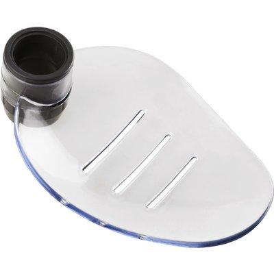 Porte-savon pour barre de douche - Diamètre 25 mm - Transparent