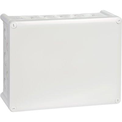 Boîte grise rectangulaire - 310 x 240 mm - 36 embouts - Presse étoupe - Ple