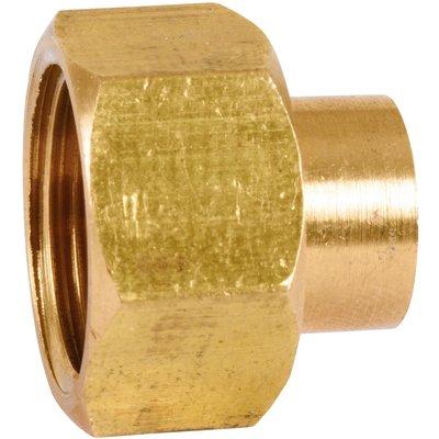 Raccord union droit à souder - 2 pièces - Laiton - Femelle - 359GCU