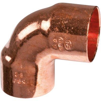 Raccord cuivre coudé 90° à souder - Femelle petit rayon - Ø 10 mm