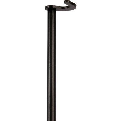 Tringle pleine noire à crochets courbes - 2,50 m - Espagnolette Terroir et