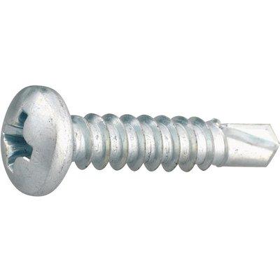 Vis tôle tête cylindrique bombé PH2 - Ø 3,5 mm - 9,5 mm - Zingué blanc - Bo
