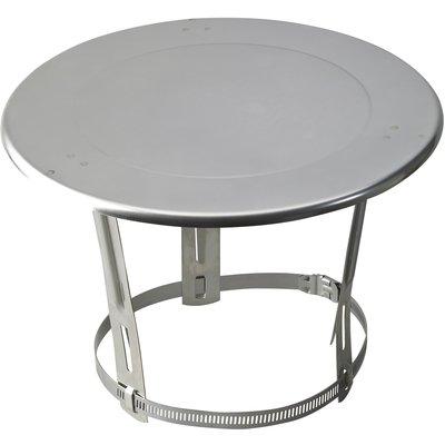 Chapeau plat inox - Ø 80 / 125 mm - Tolerie Emaillerie Nantaise