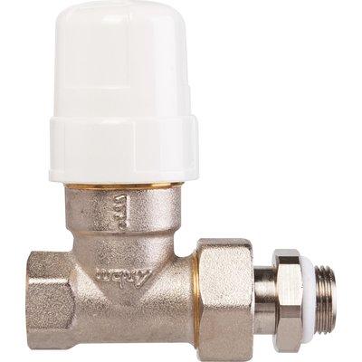 """Robinet de radiateur droit à visser - F 1/2"""" - Thermostatisable - RBM"""