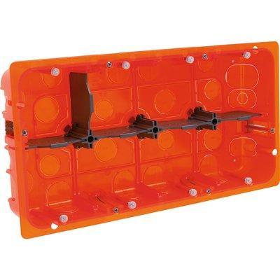 Boîte d'encastrement Batibox - Multimatériaux - 2 x 10 postes - Profondeur