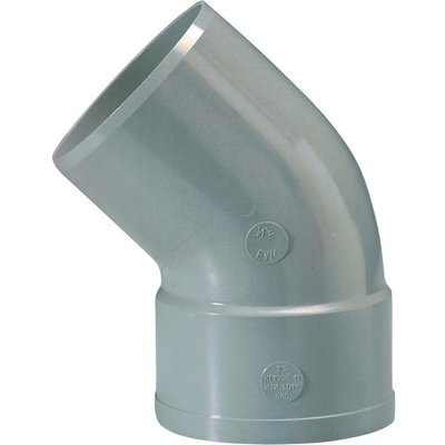 Raccord coudé à 45° d'évacuation - PVC - Simple emboîture - Mâle / Femelle