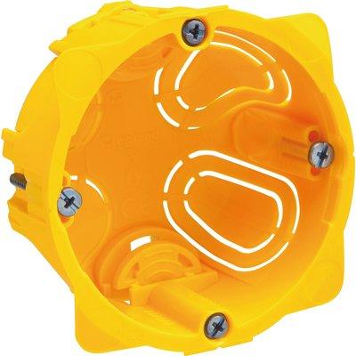 Boîte d'encastrement cloison sèche - Ø 67 x 40 mm - 1 poste - Batibox - Leg