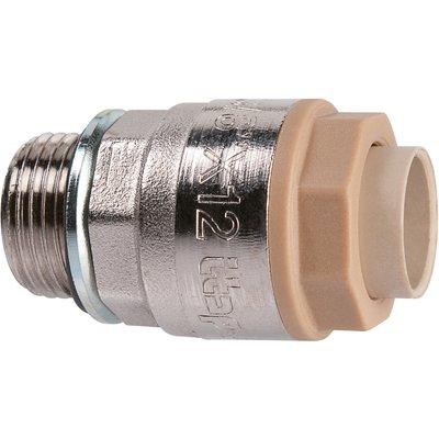 """Raccord laiton chromé droit à emboîtement - M 1/2"""" - Ø 16 mm - Itap-Fit - I"""