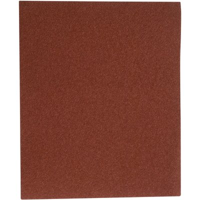 Papier abrasif corindon - 230 x 280 mm - Grain 80 - Support toile - SIA Abr