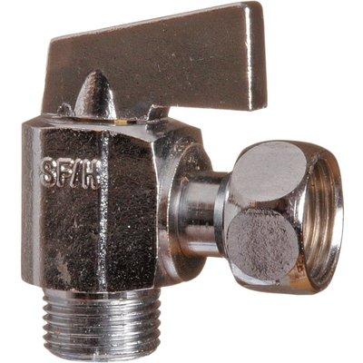 Robinet d'arrêt WC quart de tour - Équerre - Manette métal