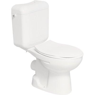 Pack WC avec abattant double blanc