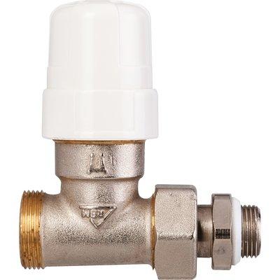 """Robinet de radiateur droit à visser - M 3/8"""" - Thermostatisable - RBM"""