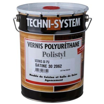 Vernis polyuréthane de finition satiné 30 - 5 L - Polistyl 2062 - Techni Sy