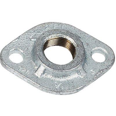 Bride ovale - Fonte galvanisée - Femelle - 320