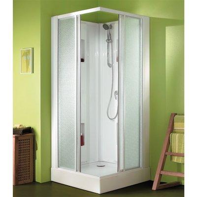 Cabine de douche carrée portes coulissantes transparentes - 80 x 80 cm - Iz