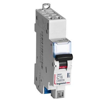 Disjoncteur vis / vis DNX3 4500 - départ - 4,5 kA - courbe C - 16 A - Legra