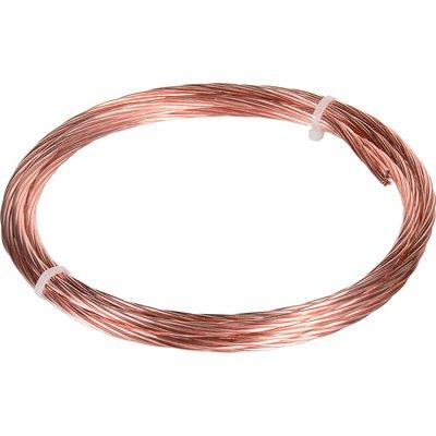 Câble de terre - Cuivre nu - Couronne de 3 m - Electraline