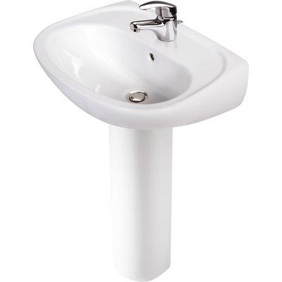 Pack lavabo + colonne avec mitigeur