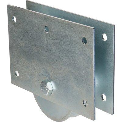 Roue à plaques support gorge ronde acier zingué - Torbel industrie