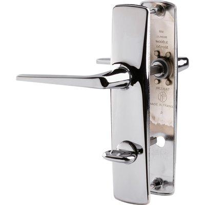Poignée de porte sur plaque RIV Junior - Chromé