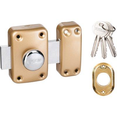Verrou de sûreté à bouton EXEM - 40 mm - Exem
