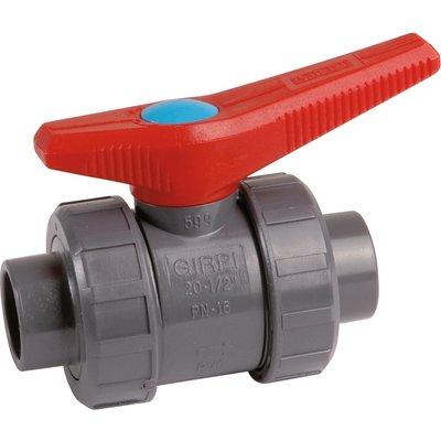 Vanne PVC pression noire - Ø 25 mm - Girpi