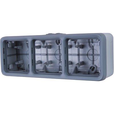 Boîtier 3 postes horizontaux Plexo composable IP 55 - Legrand