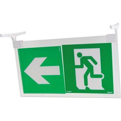 Plaque de signalisation d'évacuation verticale pour éclairage par la tranch