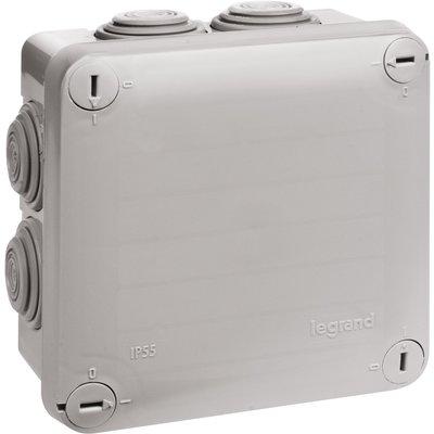 Boîte de dérivation carrée Plexo - À entrée directe - 7 embouts
